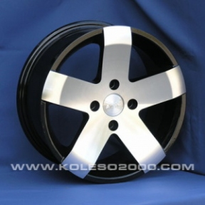 Литые диски Aleks 5501 R15 W6.5 PCD5x100 ET40 BF-MB