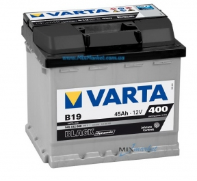 Аккумулятор Varta Black dynamic 45Ah 400A (545 412 040) B19