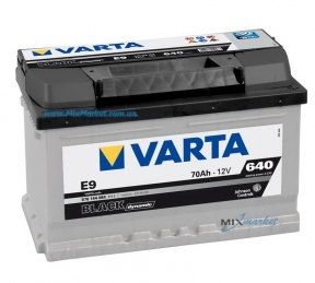 Аккумулятор Varta Black dynamic 70Ah 640A (570 144 064) E9