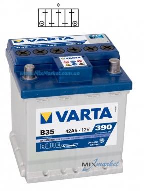 Аккумулятор Varta Blue dynamic 42Ah 390A (542 400 039) B35