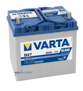 Аккумулятор Varta Blue dynamic 60Ah 540A (560 410 054) D47