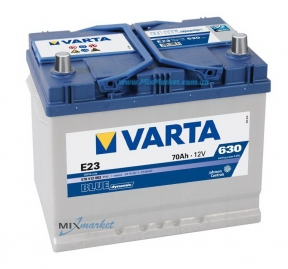 Аккумулятор Varta Blue dynamic 70Ah 630A (570 412 063) E23