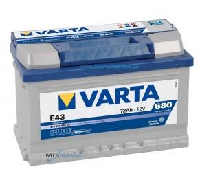 Аккумулятор Varta Blue dynamic 72Ah 680A (572 409 068) E43