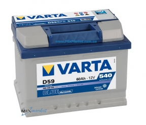 Аккумулятор Varta Blue dynamic 60Ah 540A (560 409 054) D59