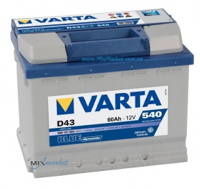 Аккумулятор Varta Blue dynamic 60Ah 540A (560 127 054) D43