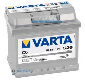 Аккумулятор Varta Silver dynamic 52Ah 520A (552 401 052) C6