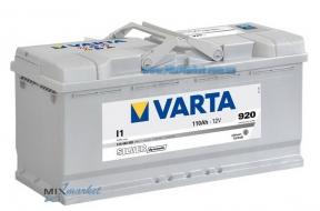 Аккумулятор Varta Silver dynamic 110Ah 920A (610 402 092) I1