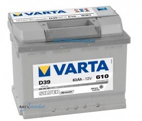 Аккумулятор Varta Silver dynamic 63Ah 610A (563 401 061) D39