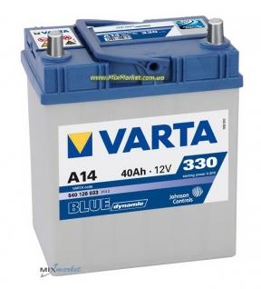 Аккумулятор Varta Blue dynamic 40Ah 330A (540 126 033) A14