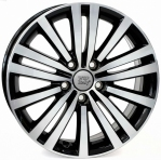 Литые диски WSP Italy Volkswagen Altair W462 R17 W7.5 PCD5x112 ET47 Glossy Black Polished