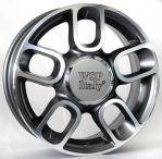 Литые диски WSP Italy Fiat 500 Diamante‎ W156 R16 W6.5 PCD4x98 ET35 Anthracite Polished