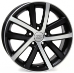 Литые диски WSP Italy Volkswagen Rheia W460 R17 W7.5 PCD5x112 ET54 Dull Black Polished