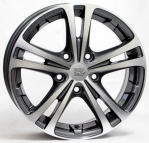 Литые диски WSP Italy Skoda Danubio‎ W3502 R17 W7.0 PCD5x112 ET54 Anthracite Polished
